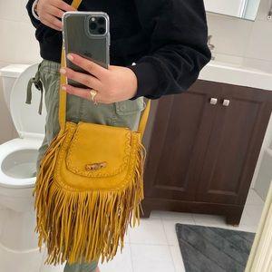 Yellow BIG BUDDHA fringe bag